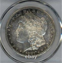 Rainbow Toning! 1881-s Pcgs Ms-66 Morgan Silver Dollar A Fantastic Coin