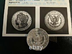 Rare1881 S Morgan Silver Dollar Photo Graded Flawless 65/65 ANACS Ultra Luster