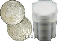 Roll of 20 1921 P D S $1 Morgan Silver Dollars About Uncirculated AU