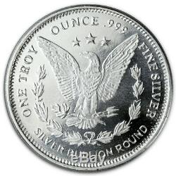Roll of 20 Morgan Dollar Design 1 Troy oz. 999 Fine Silver Rounds SKU31049