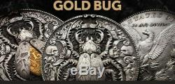 Roman Booteen's Gold Bug Silver Coin, Morgan Dollar & 1/10 Oz Of 22k Gold