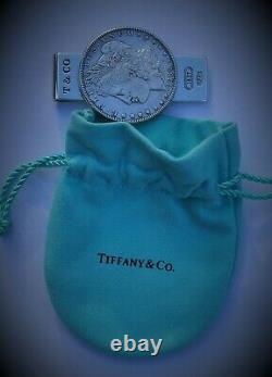 Tiffany Co Sterling Silver Morgan Dollar Money Clip Very Nice