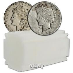 US Morgan & Peace Silver Dollar Roll of 20 coins Cull Random Date