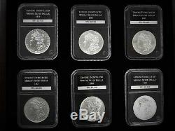 Un-circulated Morgan & Peace Silver Dollar Set