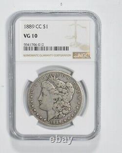 VG10 1889-CC Morgan Silver Dollar Graded NGC 3121